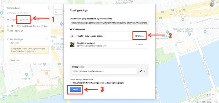 changing custom google maps permissions
